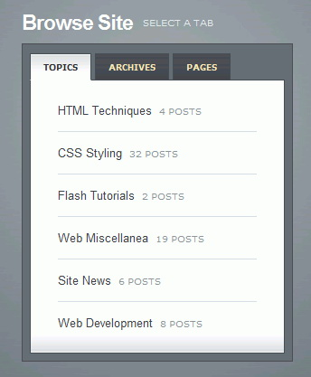 http://nettuts.com/html-css-techniques/how-to-create-a-slick-tabbed-content-area/
